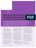 KSA fines for providing online gambling services in the Netherlands