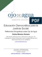 Educación Democrática Para La Justicia Social Reflexiones Sobre Ojo de Agua.pages