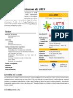 Juegos Panamericanos de 2019
