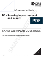 D3 Sourcing Case Study Questions and Answers