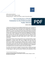 The Contribution of Performance Evaluation to the Professionalization of Public Administration