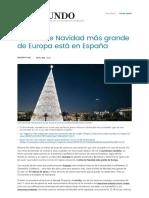 El Árbol de Navidad Más Grande de Europa Está en España _ España