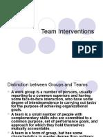 Team Interventions 178