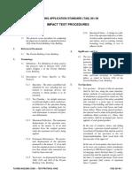 Impact test procdure