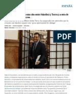 El Gobierno Accede a Una Cita Entre Sánchez y Torra y a Otra de Ministros Con Consejeros _ España _ EL PAÍS