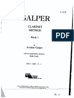Galper Clarinet Method