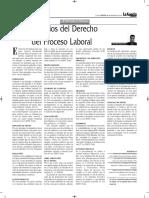 Los Principios Del Derecho Procesal Laboral - Autor José María Pacori Cari