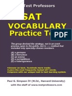 Free Printable SAT Vocab Test, From 10 SAT Vocabulary Practice Tests