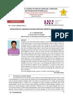 Application of language teaching methods