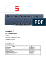 Abul Khair Steel Communication Final Report
