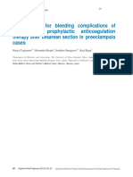 Risk Factors for Bleeding Complications of Postoperative Prophylactic Anticoagulation Therapy After Cesarean Section in Preeclampsia Cases-converted