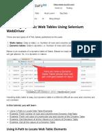 Handling Dynamic Web Tables Using Selenium WebDriver