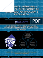 Diagnóstico Interno de La Jefatura Del Departamento de Presupuesto, Planificación e Informatica - Emusap