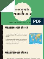 Aula 01 - Introducao a Parasitologia