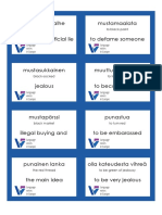 Language Voices Beginner Flashcards Idioms (FINNISH)