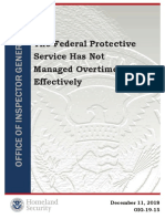 The Federal Protective Service Has Not Managed Overtime Effectively