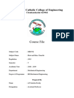 HMT- Course File