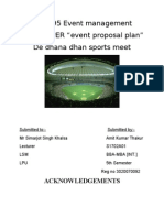 Event Proposal Plan