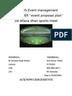 Event Proposal Plan