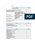 IDP Sustainabilty Checklist