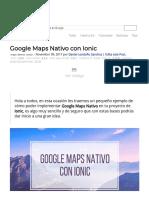 Google Maps Nativo Con Ionic