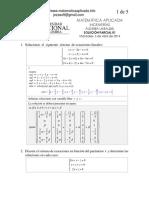 Sln Parcial 01 Algebra Lineal 05 Ingenierias 2014 1