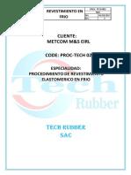 Procedimiento Elastomerico en Frio-tech Rubber