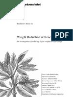 Weight Reduction of Reach Stacker (Konecrane)