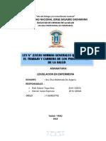 Monografia Normas Que Regulan El Trabajo de Profesionales Dela Salud