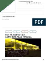 Os 5 Princípios Da Administração Pública - Politize!
