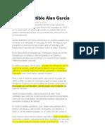 El Incorruptible Alan García
