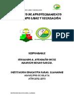 PROYECTO DE APROVECHAMIENTO DEL TIEMPO LIBRE Y RECREACIÓN.docx
