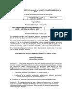 Reglamento Del Instituto Municipal de Arte y Cultura de Celaya Gto (Jul 2018)
