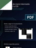 Creación de Menú Intermedio en HTML5 y CSS