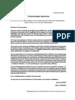 La lettre ouverte de la mairie d'Ornans du 18 décembre 2018