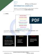 Ficha Informativa 2019 Modalidad Presencial Verano Completo