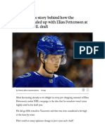 The Story Behind How the Canucks Ended Up With Elias Pettersson at the 2017 NHL Draft