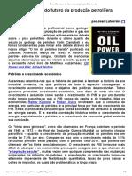 Reflexões Acerca Do Futuro Da Produção Petrolífera Mundial