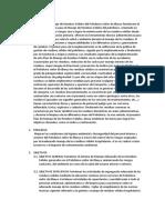 Plan Del Comité de Manejo de Residuos Solidos Hospitalarios