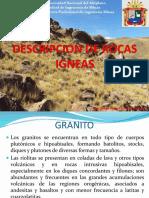 Descripcion de Rocas Igneas