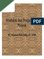 Produksi Dan Penjadualan Proyek