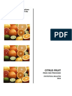 CITRUS FRUIT FRESH AND PROCESSED STATISTICAL BULLETIN 2016