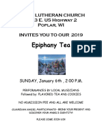 epiphany for 2019 poster
