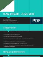 Team Unnati – Jcqc 2018