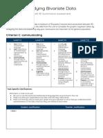 cici yan - bivariate data summative assessment