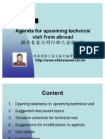 Agenda for Upcoming Technical Visit From Abroad(ii)