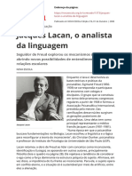 Jacques Lacan o Analista Da Linguagem