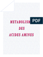 Métabolisme Des Acides Aminés