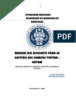 Manual Docente Para La Gestión Virtual