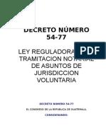 decreto ley numero 54-77